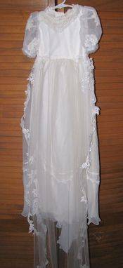 Custom Made Baptismal Gown, Christening Gown, Toddler/Infant Dress, From Your Old Wedding Dress
