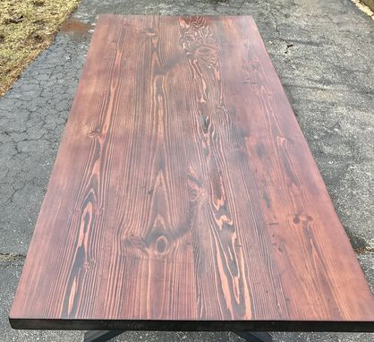 Custom Made Rustic Industrial X Frame Dining Table