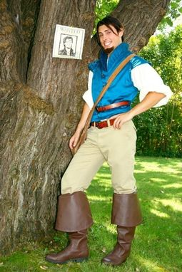 Custom Made Flynn Rider Adult A Men's Custom Costume Vest Rapunzel Tangled