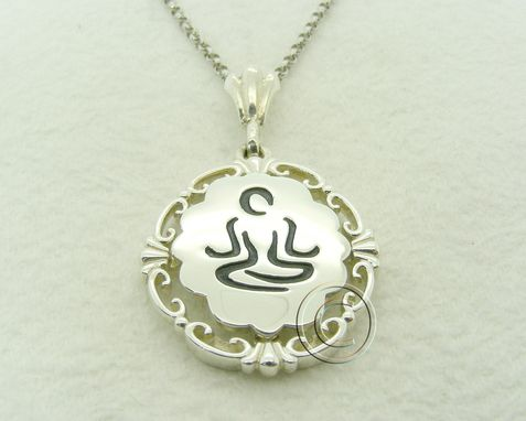 Custom Made Yoga Silver Meditation Pendant