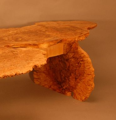 Custom Made Natural Edge Burl Table