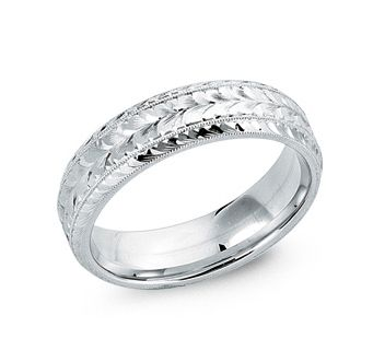 Custom Made Men's 14 Kt White Gold Wedding Ring