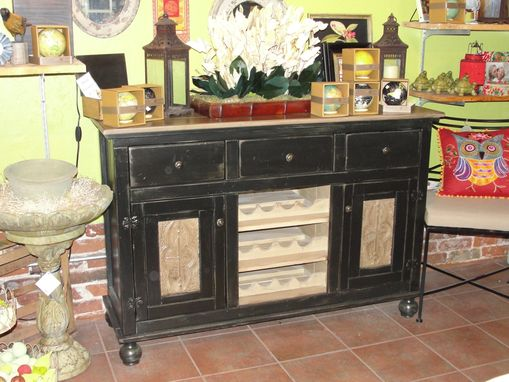 Custom Made Ruth's Pressed Tin Wine Cabinet