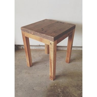 Custom Made The Simple - Reclaimed Square Side Table