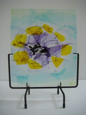 Custom Made Pressed Peony - Glass Fusing Artwork