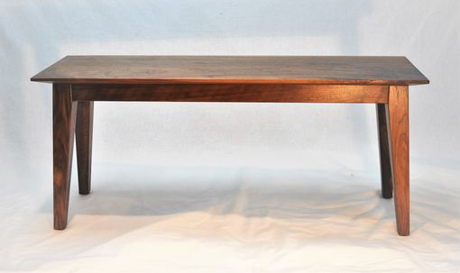 Custom Made Pretty Walnut Bench Seat