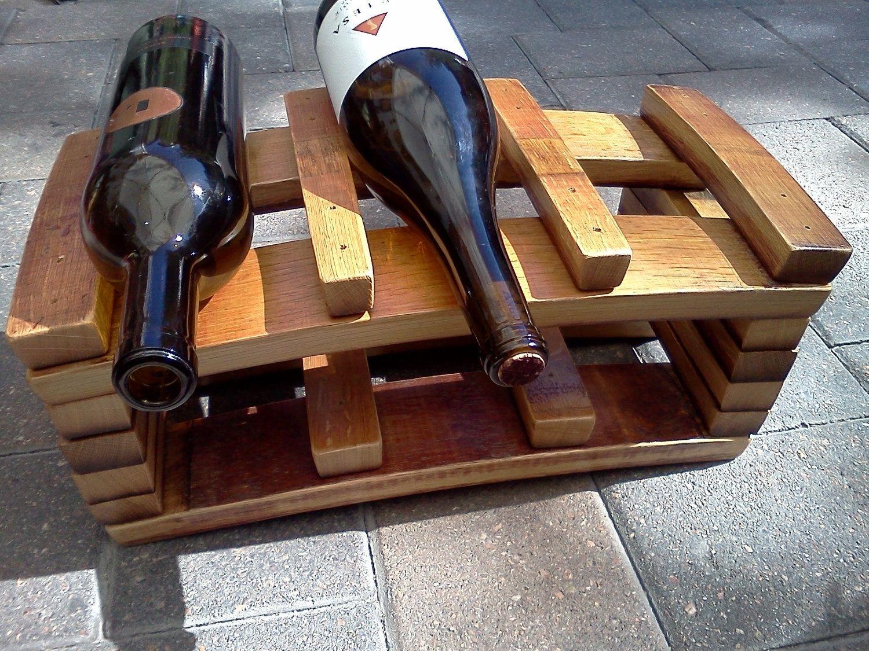Handmade Napa Barrel Stave 6 Bottle Wine Rack By Alpine Wine Design