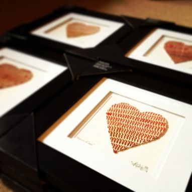 Custom Made Baseball Seams Heart Artwork - Made From Actual Used Baseballs