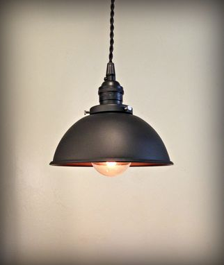 Custom Made Industrial Black Matte Edison Loft Light
