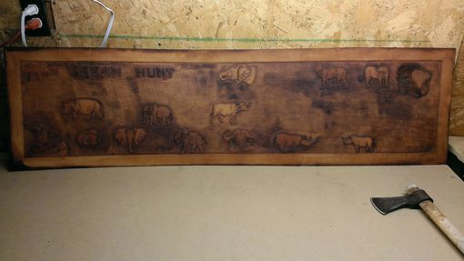 "Custom Made Hand Tooled ""Dream Hunt""  Rifle Wall Display"
