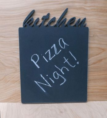 Custom Made Kitchen Chalkboard