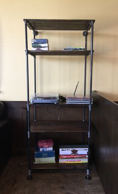 Custom Made Contemporary Steel Pipe Frame Bookshelf