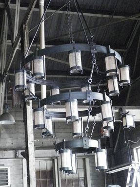 Custom Made Forged Iron High Country Chandeliers