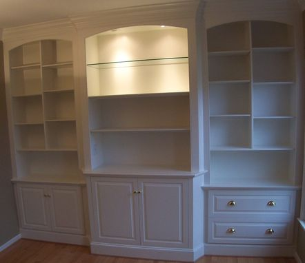 Custom Made Home Office Cabinetry And Display