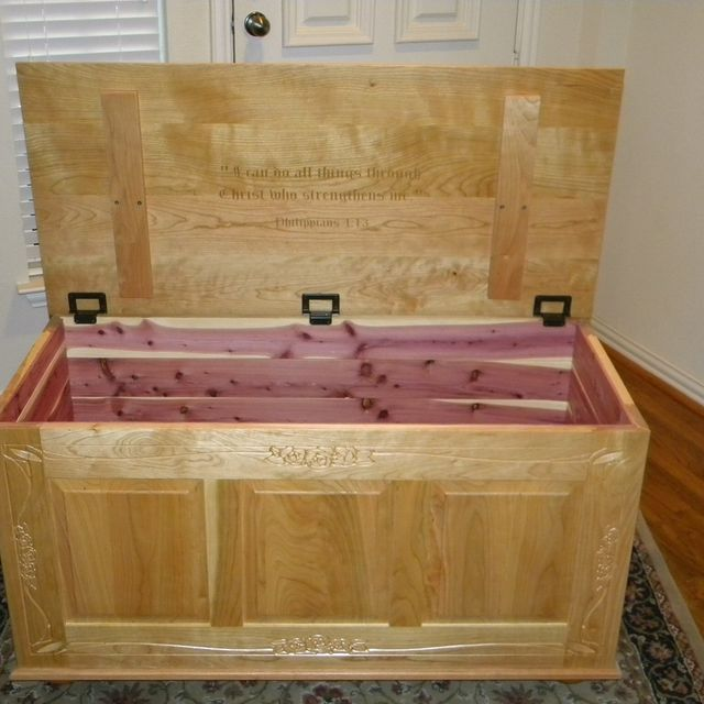 Custom Made Cedar Lined Blanket Chest By North Texas Wood Works