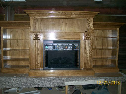Custom Made Oak Fireplace