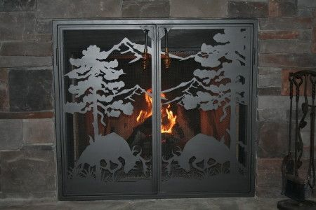 Custom Made Custom Fit Fire Place Screen