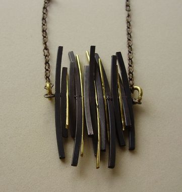 Custom Made Black And Gold Fringe Necklace