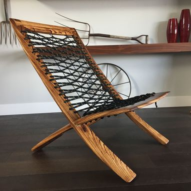 Custom Made Cat's Cradle - Unique Design - Modern Wood Interior Chair