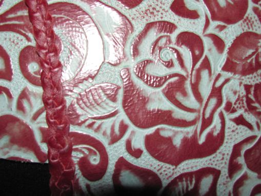 "Custom Made Western Style ""Tooled"" Leather Roses Dog Coat"