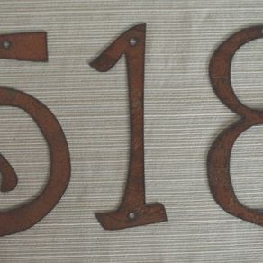 house numbers 4 8 size - Decorative House Numbers