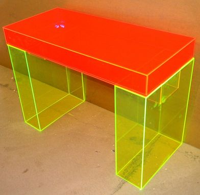 Custom Made Acrylic Modular Top Desk - Hand Crafted, Custom Made To Order