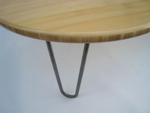 Custom Made Kidney Bean Shaped Coffee Table - Mid Century Modern - Atomic Era Design In Natural Bamboo
