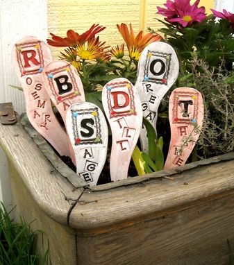 Custom Made Personalized Custom Herb Name Garden Plant Stake Labels