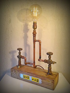 Custom Made Steampunk Upcycled Lamp Sculpture