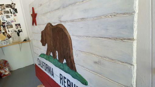 Custom Made Wood California Flag