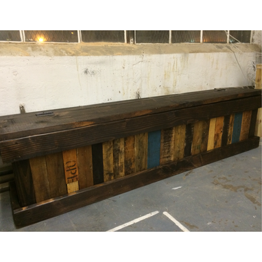 Custom Made Reclaimed Pallet Storage Bench