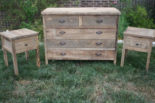 Custom Made Five Drawer Reclaimed Barn Wood Dresser