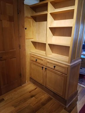 Custom Made Cabinet With Double Sided Shelving
