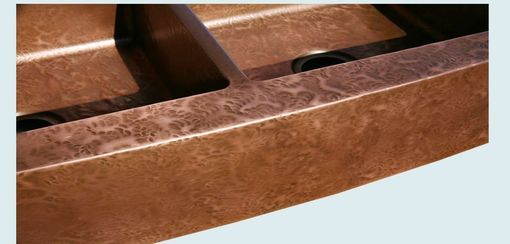 Custom Made Copper Sink With Ray's Hammering