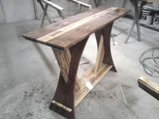Custom Made X Frame Hall Table