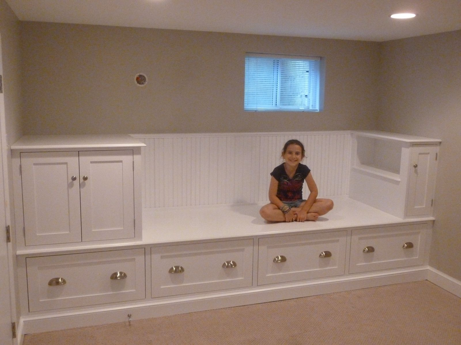 Custom made large storage bench bed by meisterbuilders for D i y bedroom cupboards