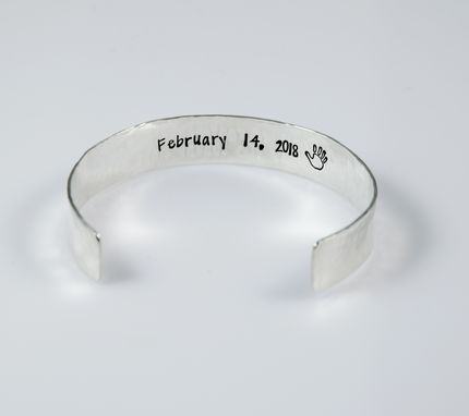Custom Made Personalized Sterling Silver Cuff Bracelet