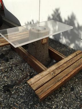 Custom Made Tree Stump Picnic Table/Bench Set