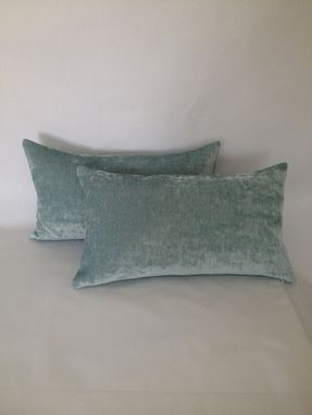 Custom Made Sea-Foam Silky Velvet Pillow Cover