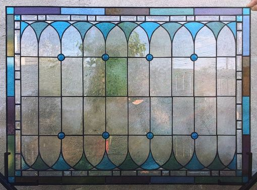 Custom Made Original Stained Glass Window Panels/ Custom Designed  (W-25)