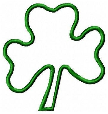 Custom Made Shamrock Applique Embroidery Design