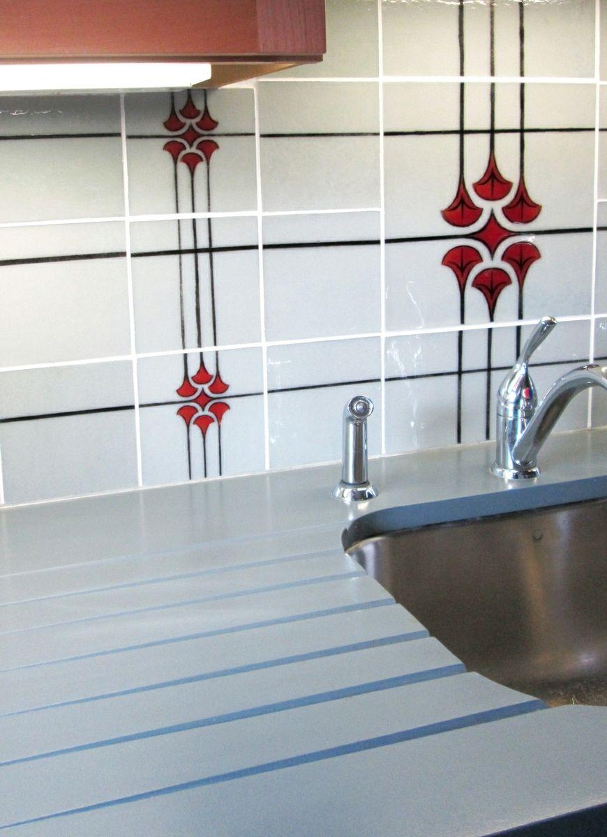 Hand Made Custom Made Glass Tiles For Kitchen Backsplash by Studio ...