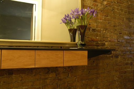 Custom Made Hall Shelf With Drawers