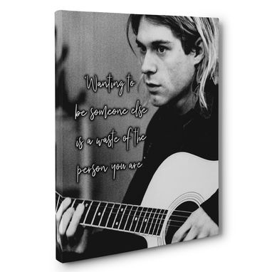 Custom Made Kurt Cobain Quote Canvas Wall Art
