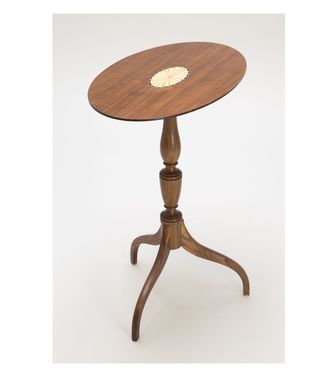 Custom Made Walnut Tilt-Top Tripod Table