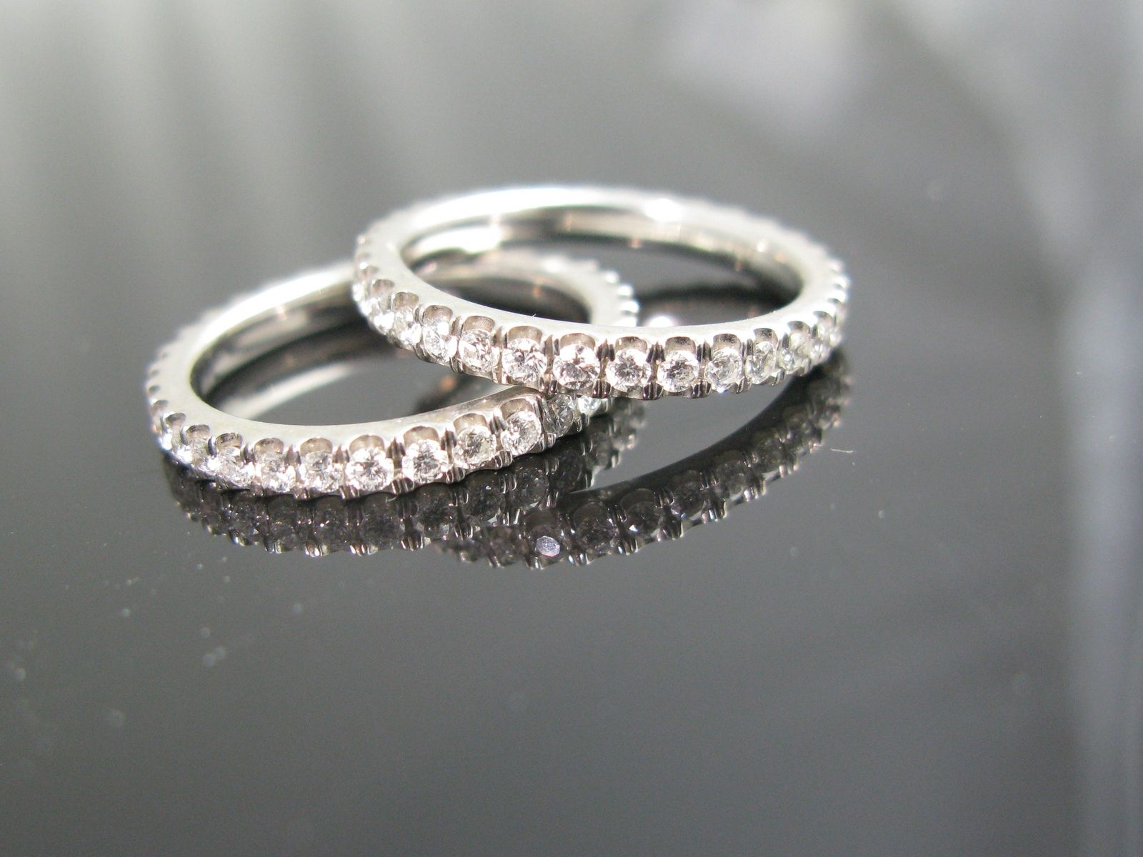 Hand Made Micropave Diamond Eternity Wedding BandsRing Guards by
