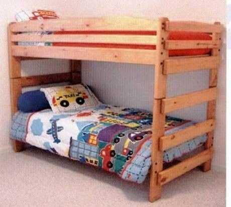 Hand Made Paul Bunyan Stackable Twin Twin Bunk Bed By