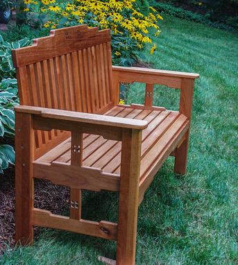 Custom Made Arts And Crafts Garden Bench