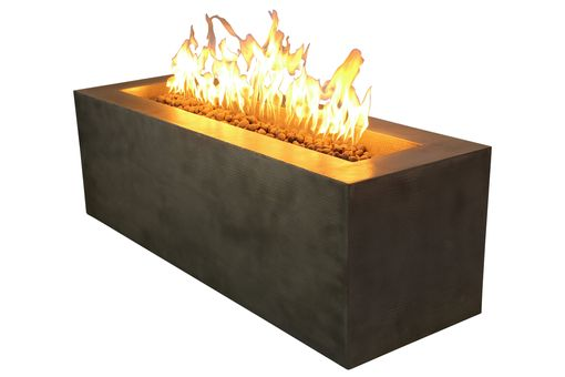 Custom Made Rectangular Copper Fire Pit - Customizable By World Coppersmith