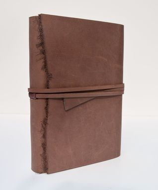 Custom Made Handmade Leather Bound Sleeve Journal Personal Day Planner Ledger Travel Diary